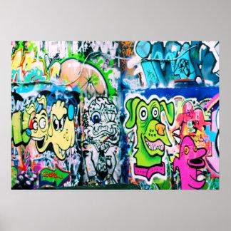 Southbank Graffiti - London-Plakat Poster