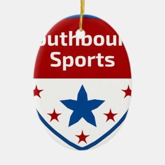 Southbound Sport-Wappen-Logo Keramik Ornament