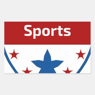Southbound Sport-Wappen-Logo Rechteckiger Aufkleber