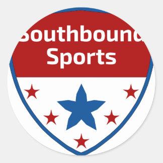 Southbound Sport-Wappen-Logo Runder Aufkleber