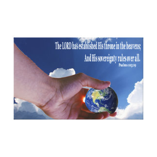 Souveräne Gott-Leinwand Wand-Kunst Leinwanddruck