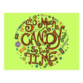 Soviel Süßigkeit so wenig Zeit - Halloween Postkarte