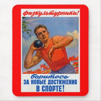 Sowjetische athletische Propaganda Mousepads