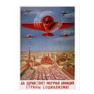 sowjetische Flugzeugpostkarte Postkarte