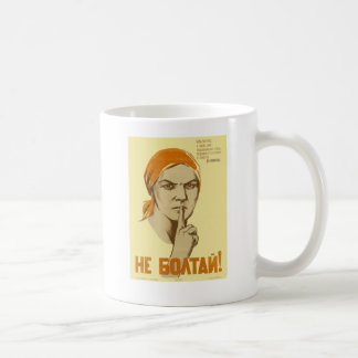 Sowjetische Propaganda Kaffeetasse