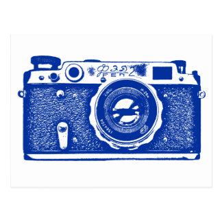 Sowjetische russische Kamera - Marine-Blau Postkarte