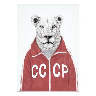 Sowjetischer Löwe 12,7 X 17,8 Cm Einladungskarte