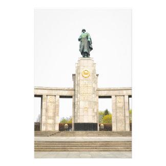 Sowjetisches Kriegs-Denkmal in Berlin, Deutschland Briefpapier