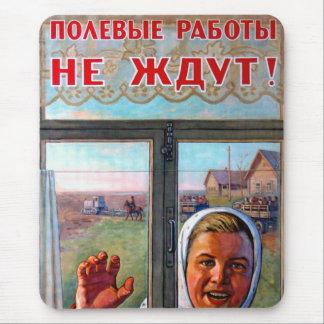 Sowjetisches landwirtschaftliches Porpaganda Mousepad