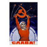 Sowjetisches Raum-Propaganda-Plakat