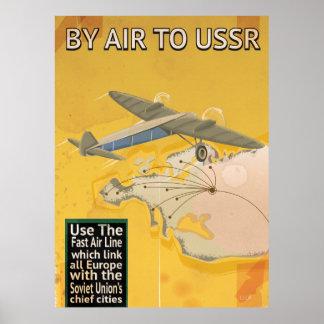 Sowjetisches Vintages Reise-Plakat UDSSR Poster