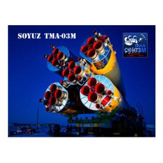 Soyuz TMA-03M Raumfahrzeug, Kasachstan Postkarte