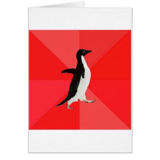 Sozial fantastisches Penguin-Ratetier Meme Grußkarte