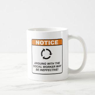 Sozialarbeiter/argumentieren Kaffeetasse