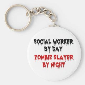 Sozialarbeiter durch TageszombieSlayer bis zum Nac Standard Runder Schlüsselanhänger