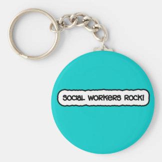 Sozialarbeiter-Felsen! Schlüsselanhänger