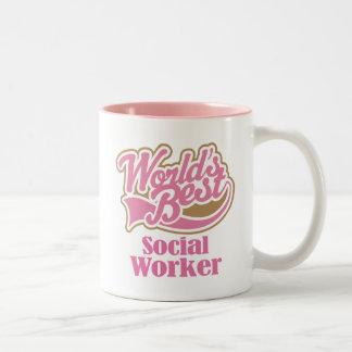 Sozialarbeiter-Geschenk Zweifarbige Tasse