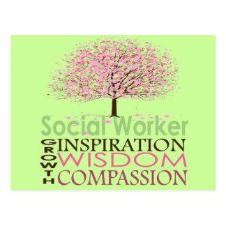 Sozialarbeiter-Geschenke Postkarte