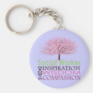 Sozialarbeiter-Geschenke Standard Runder Schlüsselanhänger