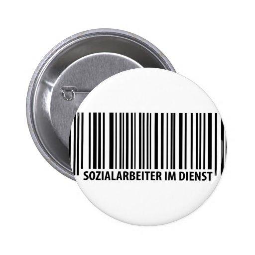Sozialarbeiter im Dienst Barcodeikone Button