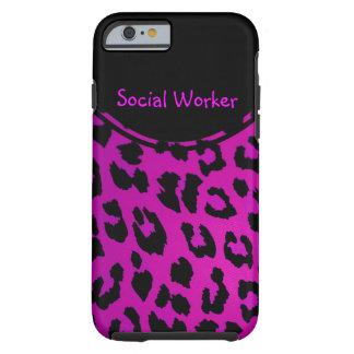 Sozialarbeiter-Leopard iPhone 6 Fall Rosa Tough iPhone 6 Hülle