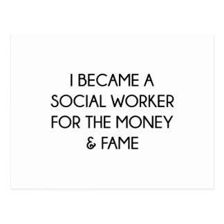 Sozialarbeiter Postkarte