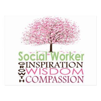 Sozialarbeiter-Postkarte Postkarte