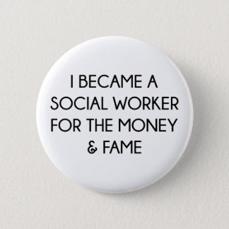 Sozialarbeiter Runder Button 5,1 Cm