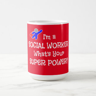 Sozialarbeiter-Superheld Kaffeetasse
