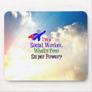 Sozialarbeiter-Superheld Mousepad