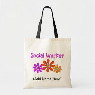 Sozialarbeiter-Taschen-Tasche Budget Stoffbeutel
