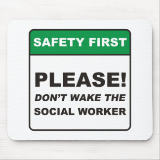 Sozialarbeiter/wecken Mousepad