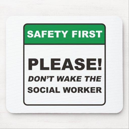 Sozialarbeiter/wecken Mauspads
