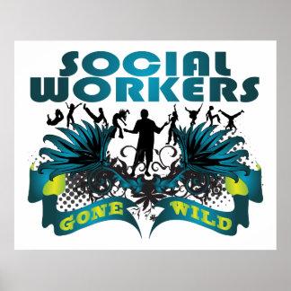 Sozialarbeiter wild gegangen posterdruck