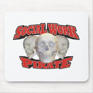 Sozialarbeits-Pirat Mousepads