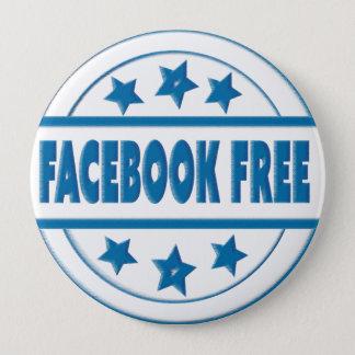 SozialFacebook geben Ihr kundenspezifisches rundes Runder Button 10,2 Cm