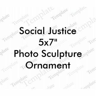 """Sozialgerechtigkeits-12x18"""" Photoskulptur"""