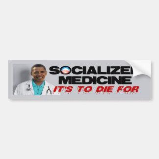 Sozialisierte Medizin Autoaufkleber