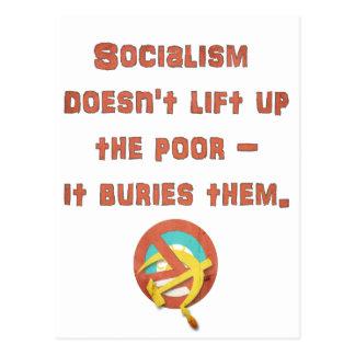 Sozialismus begräbt die Armen Postkarte