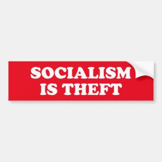 Sozialismus ist Diebstahl Autoaufkleber