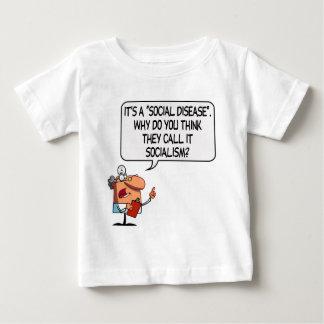 Sozialismus ist eine Sozialkrankheit Baby T-shirt
