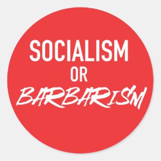 Sozialismus-oder Barbarei-Aufkleber Runder Aufkleber