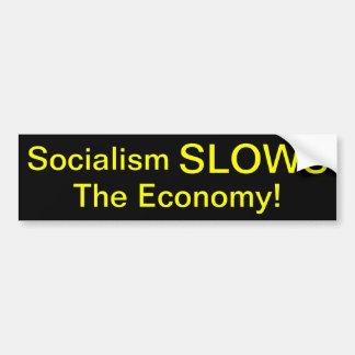Sozialismus VERLANGSAMT die Wirtschaft Autoaufkleber