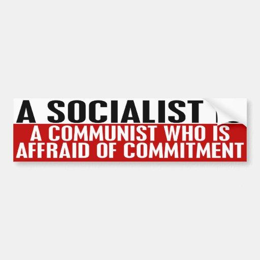 Sozialisten haben vor Verpflichtungs-Autoaufkleber