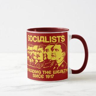 Sozialisten: Verbreiten der Reichtums-Tasse Tasse