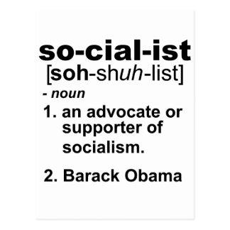 sozialistische Definition Postkarte