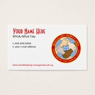 Sozialistisches Party CA/L.A. Cards Visitenkarte