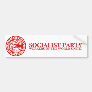 Sozialistisches Party USA Autoaufkleber