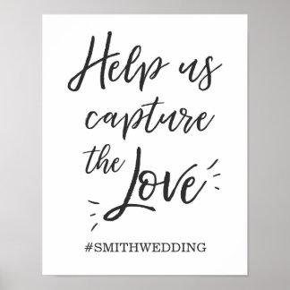 Sozialmedien, die hashtag Zeichen Instagram Poster