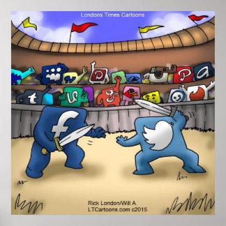 SozialMedienkrieg-lustiges Plakat durch Rick